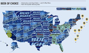 Deconstructing the map of beers