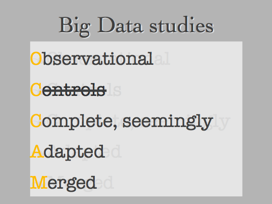 Big Data, Plainly Spoken (aka Numbers Rule Your World)